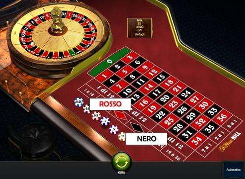 Trucchi roulette rosso nero funziona