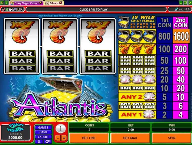 бесплатные онлайн игровые автоматы atlantis