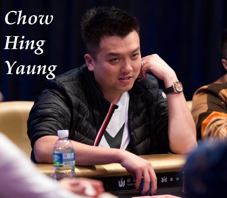 Chow Hing Yaung at 2018 Triton SHR Jeju Short Deck Event 100K