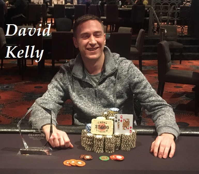 David Kelly wins 2018 Melbourne Poker Champs Opening Event