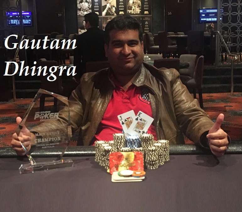 Gautam Dhingra wins 2018 Melbourne Poker Champs Main Event