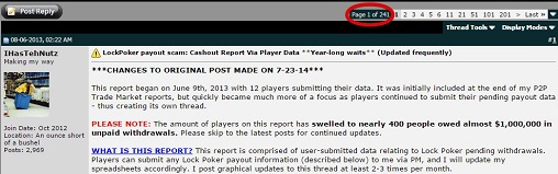 LockPoker payout scam forum post