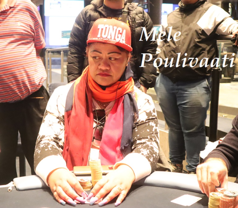 Mele Poulivaati at 2018 Star Poker Sydney Championship Turbo Event
