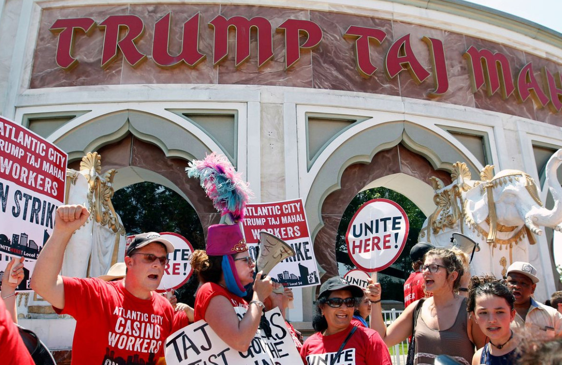 Former Trump Taj Mahal Casino Workers
