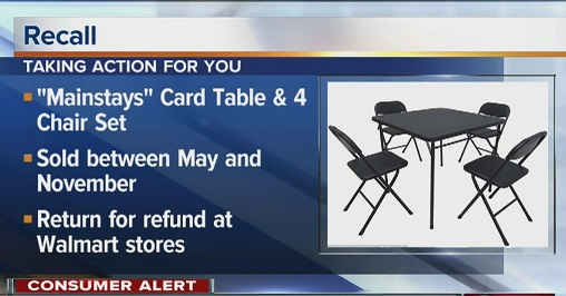 Walmart recalled a card table