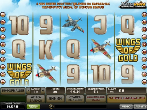 Wings of Gold video slot