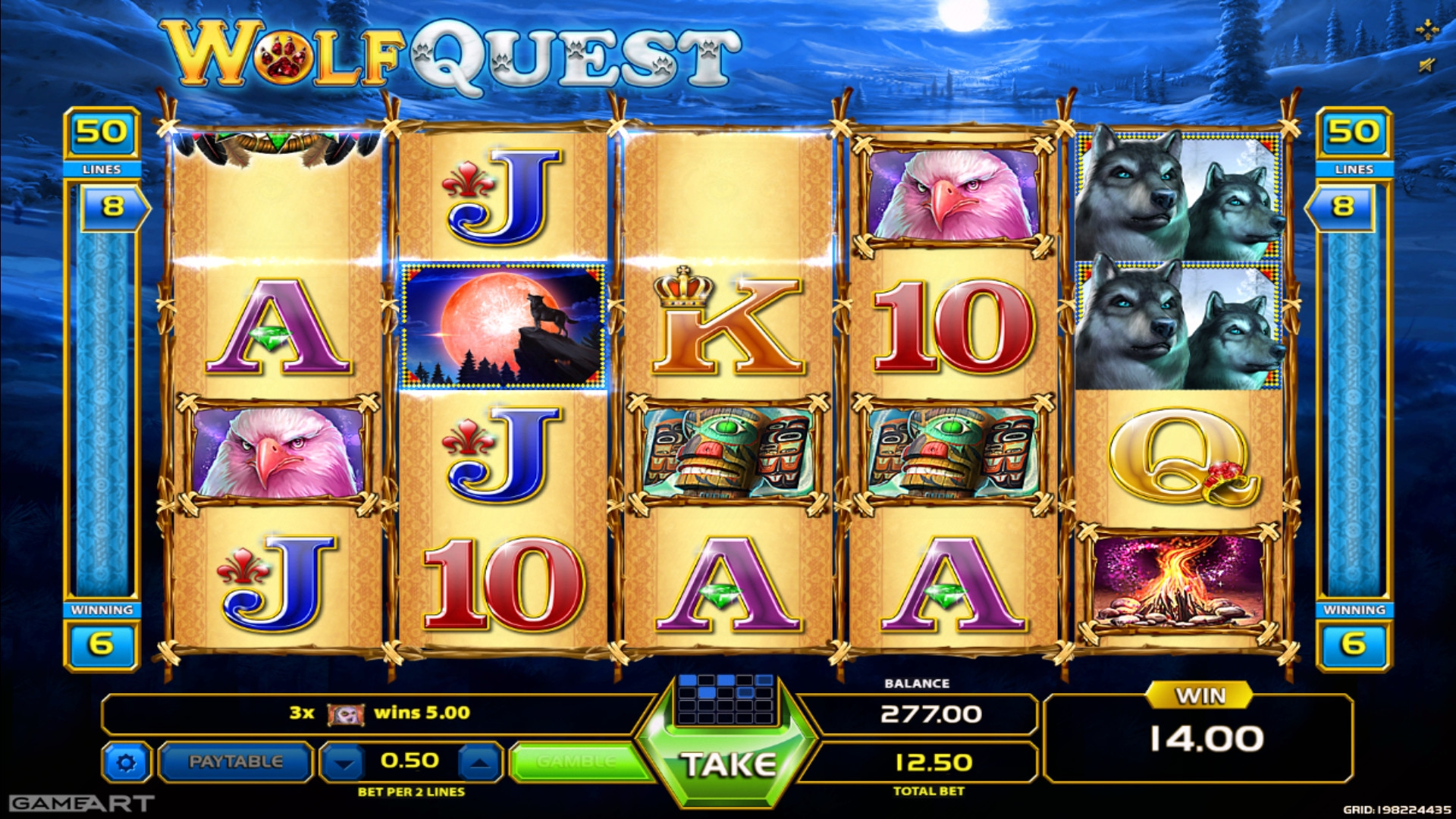 wolf quest slot GameArt