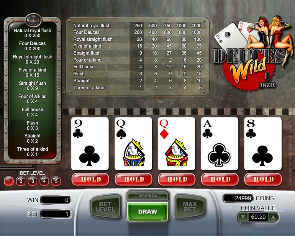 netent deuces wild video poker